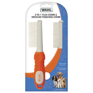 Wahl 2-in-1 Flea Comb and Medium Finishing Comb