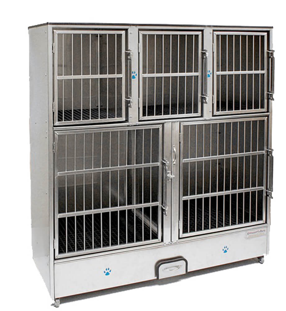 Groomer's Best Cage Bank. 5 Unit