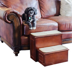 Deluxe Wood Pet Steps, Brown