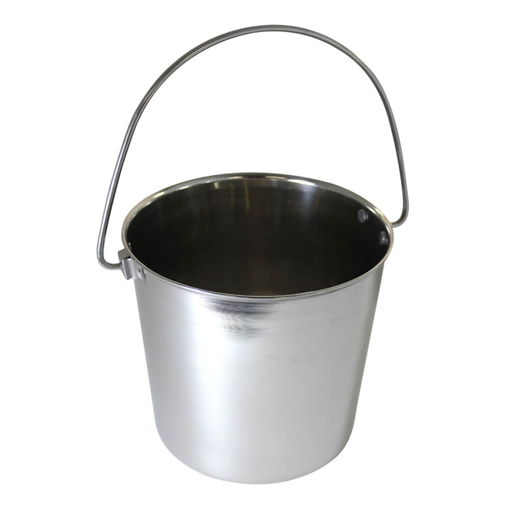 Pail Stainless Steel W Rivets Round 2 Qt