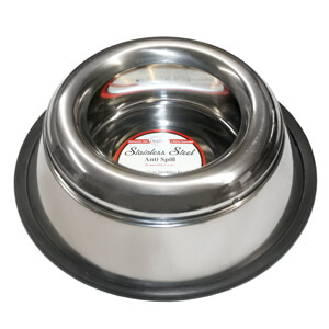 Non-Tip Splash Free Stainless Dog Bowl 32oz