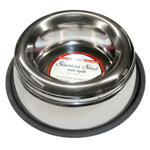 Non-Tip Splash Free Stainless Dog Bowl 64 oz