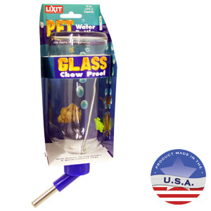 Lixit Glass Water Bottle and Tube Stopper