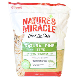 Natures Miracle® Natural Pine Litter for Cats, 8 lbs