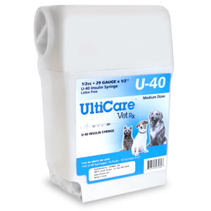 UltiCare U-40 Insulin Syringe w/ Disposal, 1/2 cc, 29 Gauge x 1/2