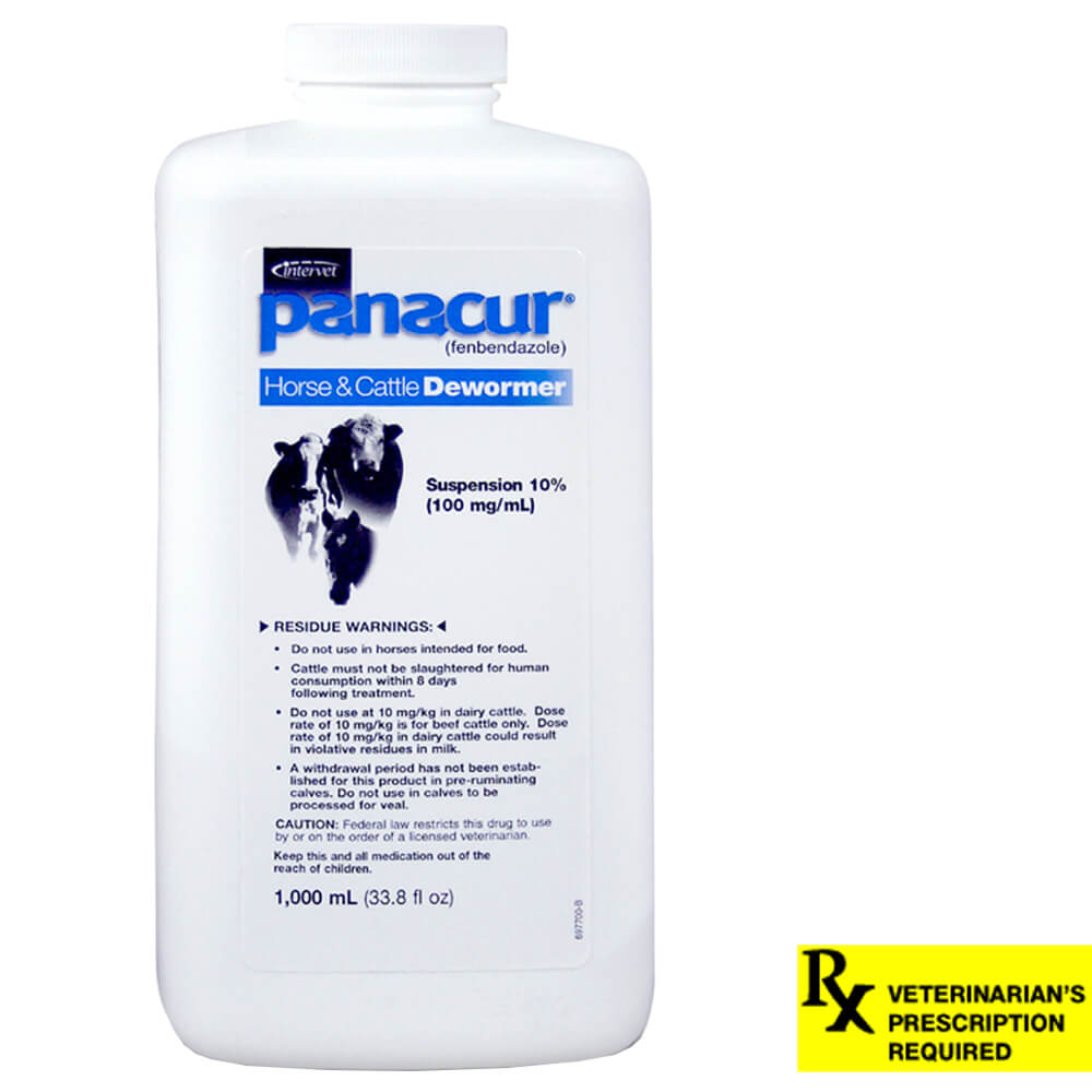 Panacur Horse, Beef & Dairy Cattle Dewormer Suspension Rx