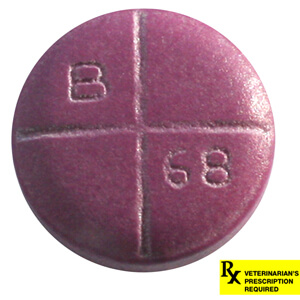 Rx Baytril 68mg x 1 Coated Tabs Purple