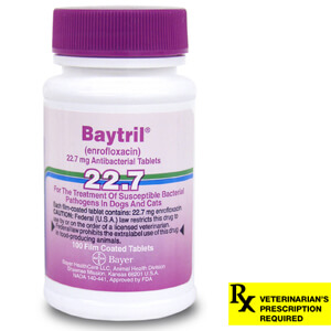 Baytril Rx, Tablets, 22.7 mg x 100 ct