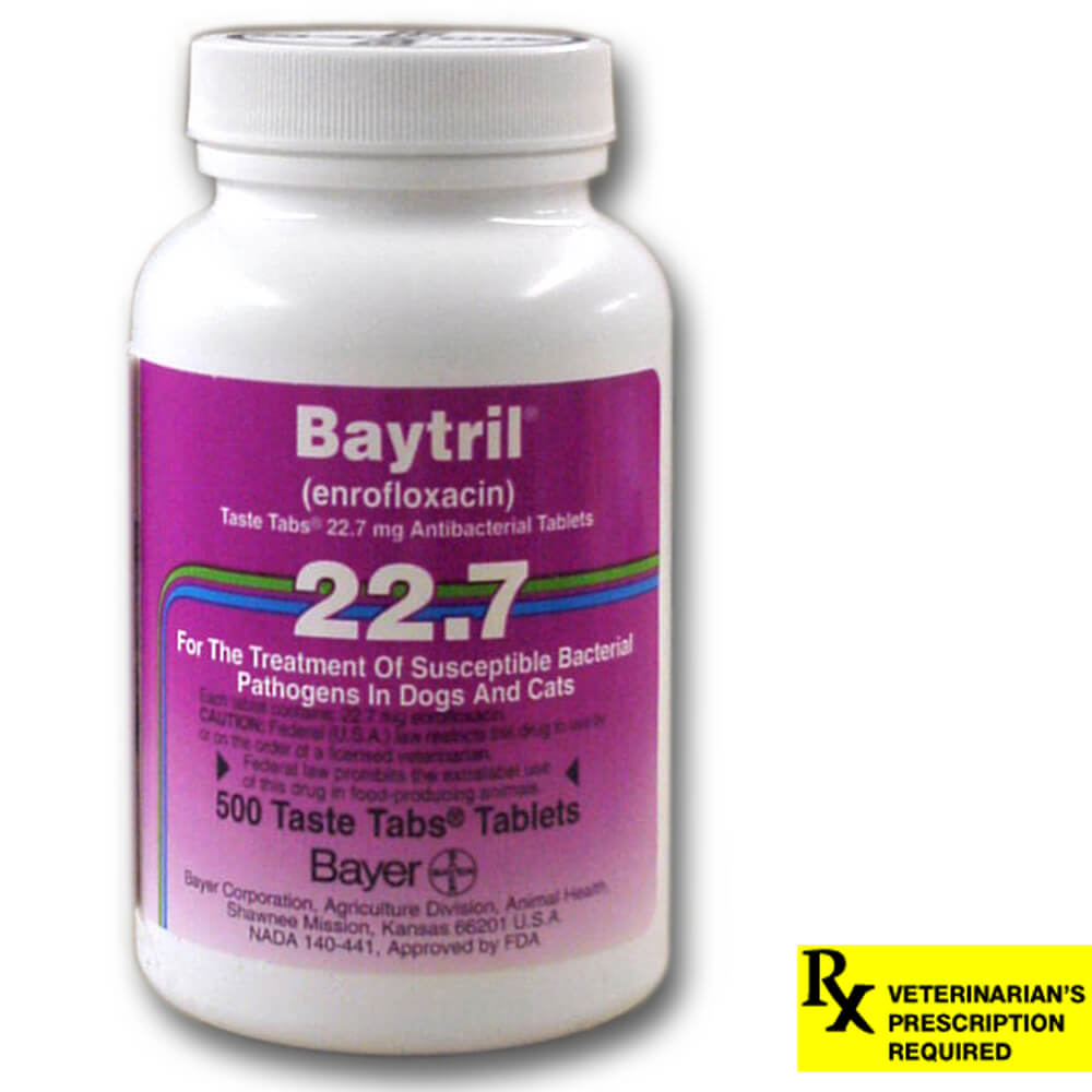 Baytril Rx, Taste Tabs, 22.7 mg x 500 ct