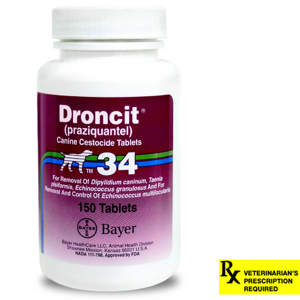 Droncit Rx for Dogs, 34 mg x 150 ct