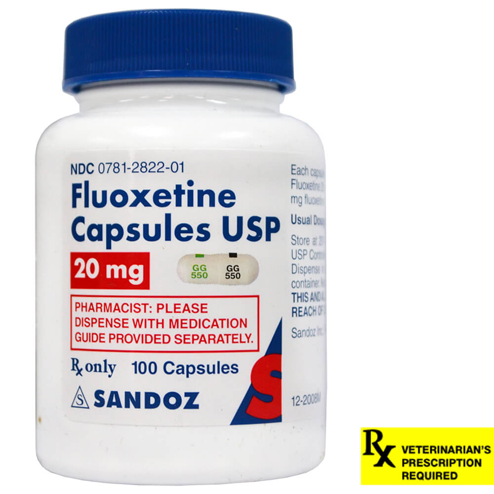 Fluoxetine Rx Capsules, 20 mg x 100 ct