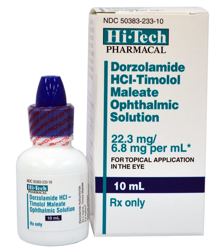 Rx Dorzolamide-Timolol Opth Solution 22.3mg/6.8mg