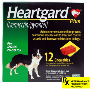 Heartgard Plus Rx, 26-50 lbs, 12 Month (Green)