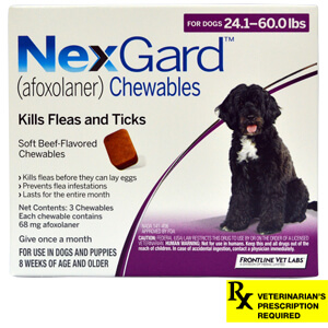 NexGard Rx for Dogs, 24-60.0 lbs, 3 month
