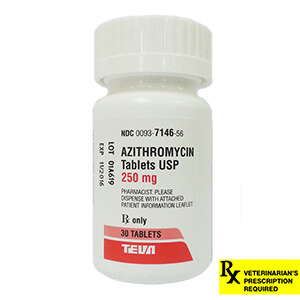 Azithromycin/Zithromax Rx Tablets 250 mg x 30 ct