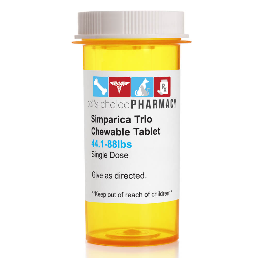 Rx Simparica Trio, Green, 44.1-88lbs, 48Mg, Single Tab