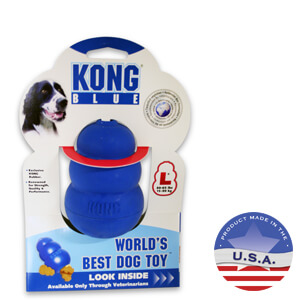 KONG for Dogs, Large, Blue, Large 60-90 lbs