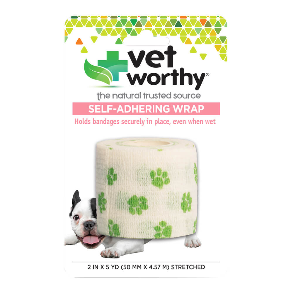 Vet Worthy, Self-Adhering Wrap, Paw Prints
