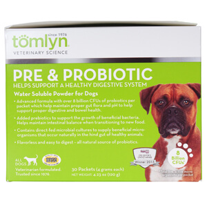 Pre & Probiotic Water Soluble Powder for Dogs, 30 ct