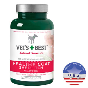 Vet's Best Healthy Coat Shed + Itch Chewable Tablets