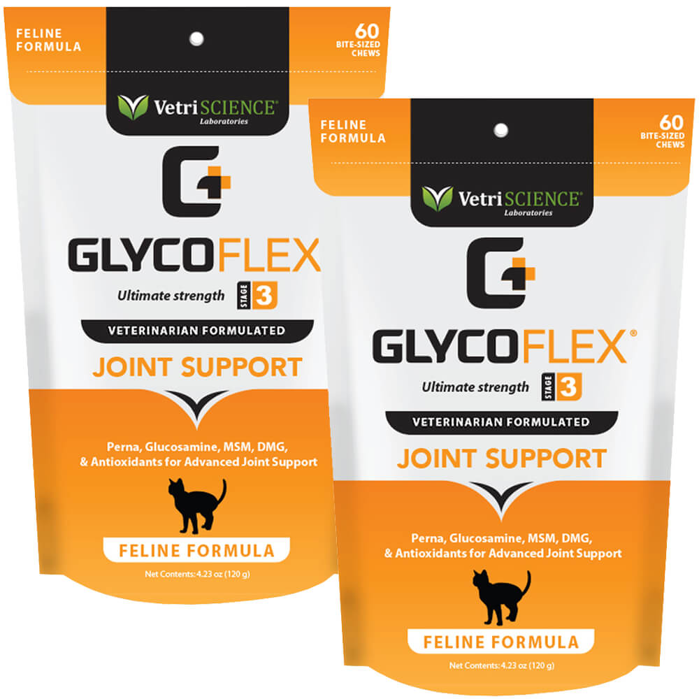 Glyco Flex Stage 3 Feline Bite Sized Chew 60ct, 2pk