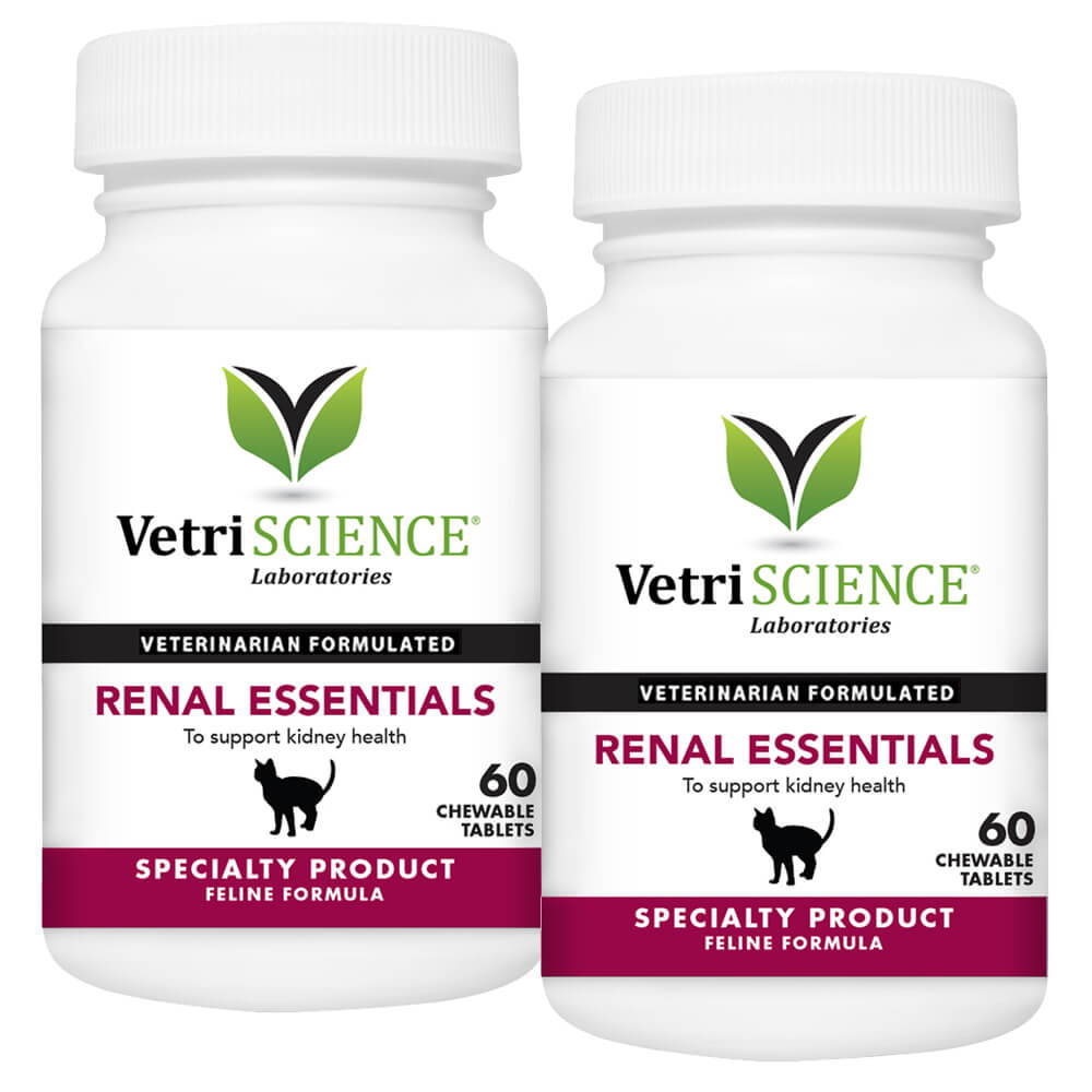 Renal Essentials for Cat, 60 Chewable Tablets, 2pk