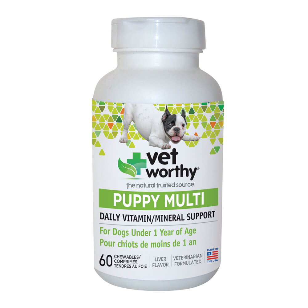 Vet Worthy, Puppy Multi Daily Vitamin, for Dogs, 60 ct