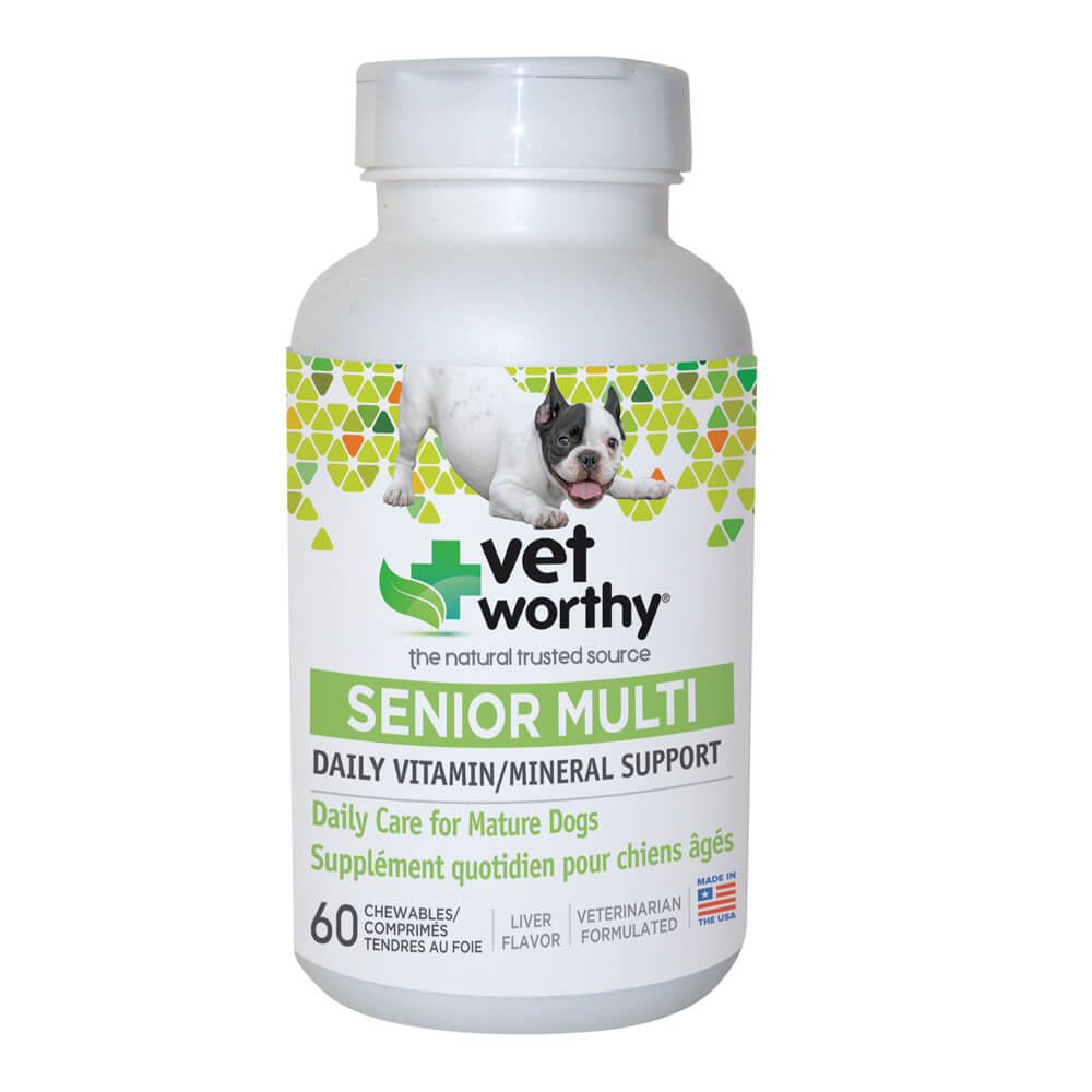 Vet Worthy, Senior Multi Vitamin, for Dogs, 60 ct