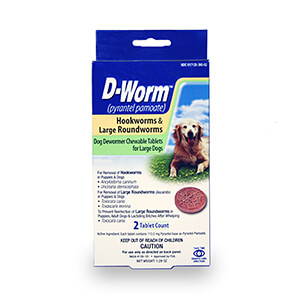 D-Worm Chewable Tablets for Large Dogs