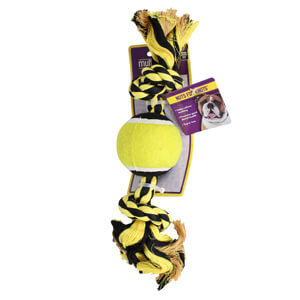 Nuts for Knots 2-Knot Rope with Tennis Ball, 10