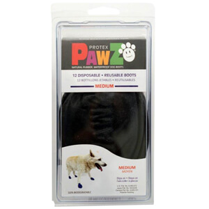 PAWZ Dog Boots, Medium (Black)