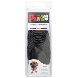PAWZ Dog Boots, Small, Black
