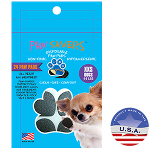 Paw Savers Disposable Paw Pads, for XXS Dogs 4-8 lbs, 24 Pads