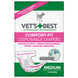 Comfort-fit disposable Female Diapers, Med 12 Pack