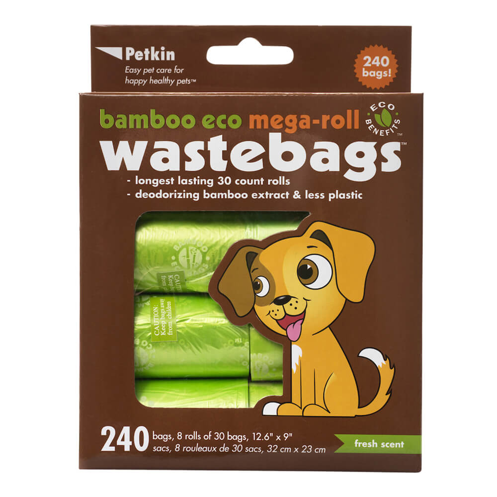 Bamboo Eco Mega-Roll Waste Bags, 240 Count