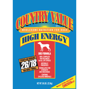 Country Value Hi-Energy Adult Dog Food