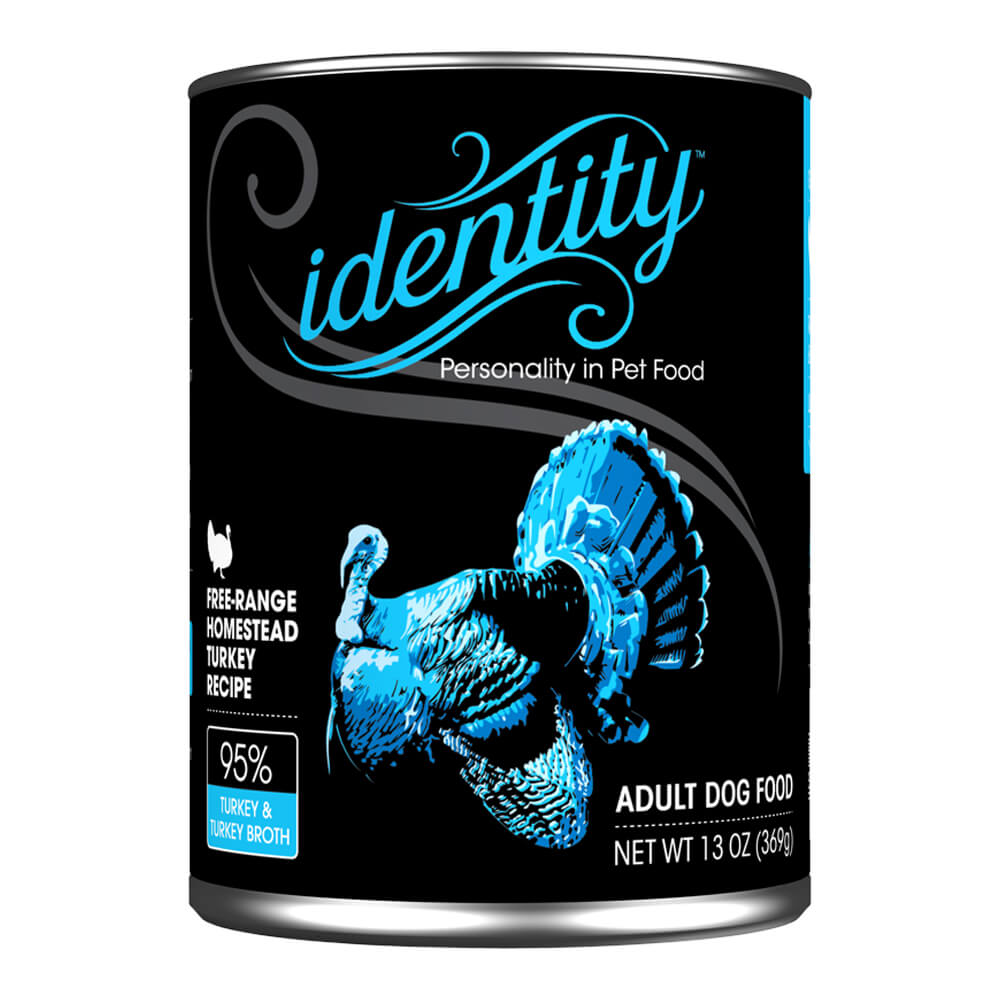 Identity, 95% Free-Range Heritage Turkey for Dogs, 13 oz, (12 cans per case)