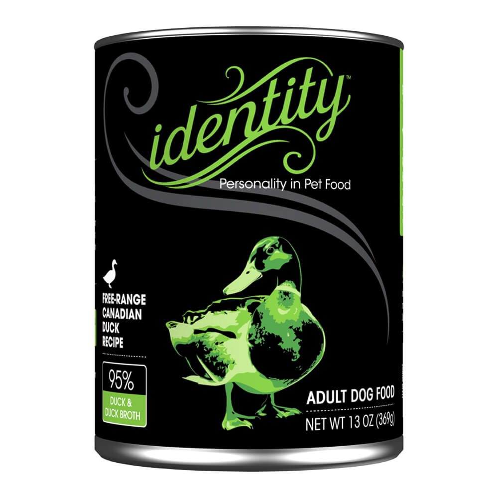 Identity, 95% Free-Range Heritage Duck for Dogs, 13 oz, (12 cans per case)