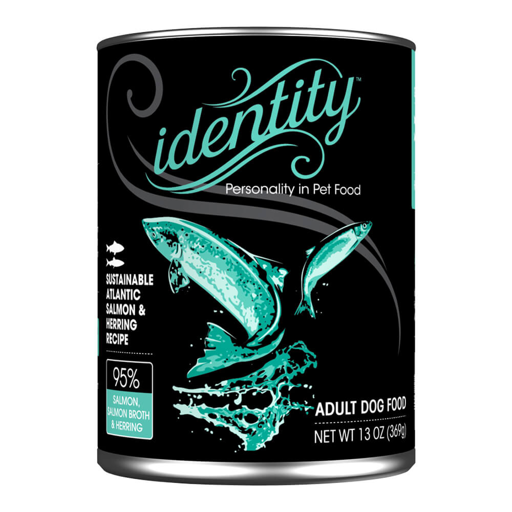 Identity, 95% Wild- Caught Atlantic Salmon & Herring, for Dogs, 13 oz, (12 cans per case)