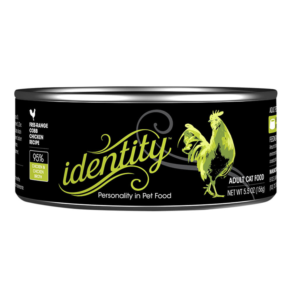 Identity, 95% Cage-Free Cobb Chicken for Cats, 5.5 oz, (24 cans  per case)