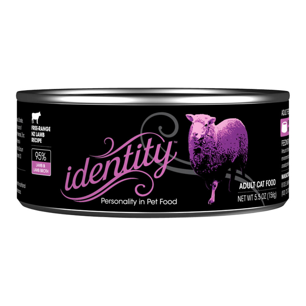 Identity, 95% Free-Range NZ Lamb for Cats, 5.5 oz, ( 24 cans per case)