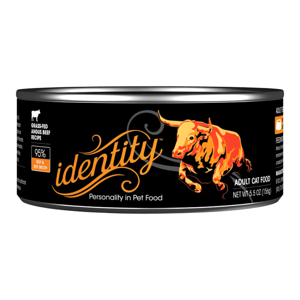 Identity, 95% Grass-Fed Angus Beef for Cats, 5.5 oz, ( 24 cans per case)