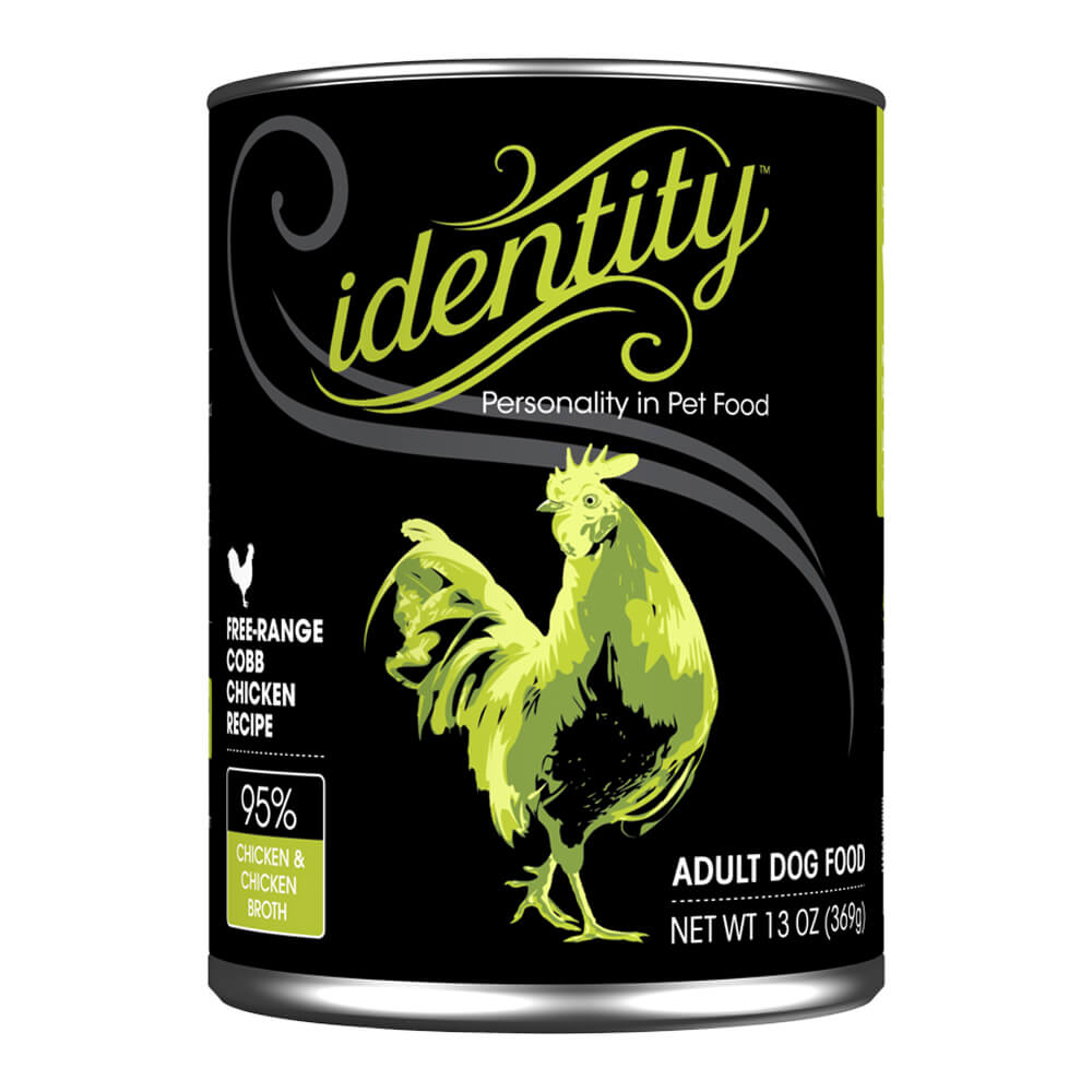 Identity, 95% Cage-Free Cobb Chicken for Dogs, 13 oz, ( 12 cans per case)