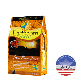 Earthborn Holistic Great Plains Feast Natural Dog Food, 5 lbs