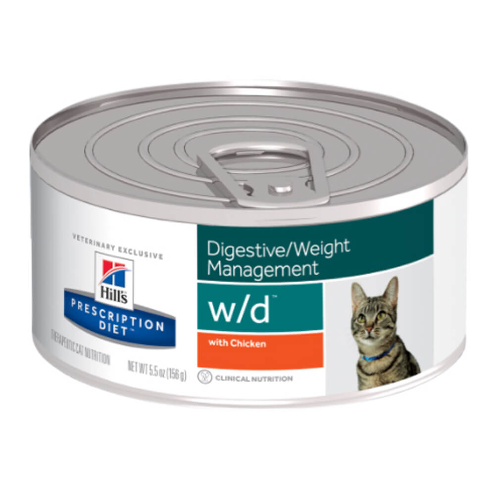 Science Diet Rx w/d Feline with Chicken, 5.5 oz cans