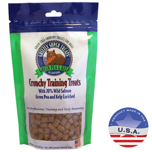 Grizzly Super Treats Crunchy Training Treats Green Pea and Kelp, 5 Ounces