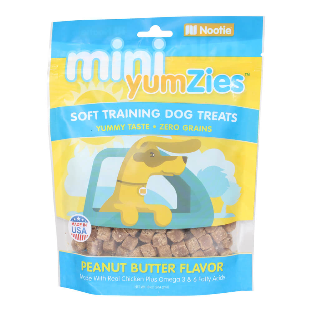 Mini YumZies, Soft Training Dog Treats, Grain Free, Peanut Butter, 10 oz