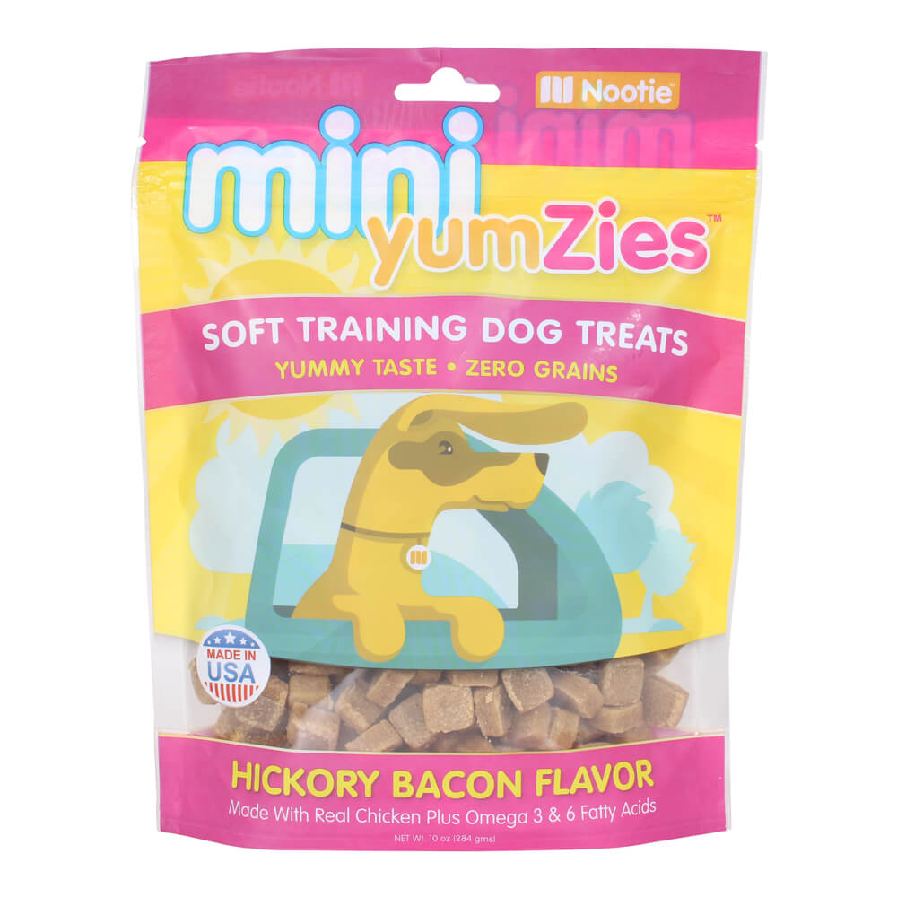 Mini YumZies, Soft Training Dog Treats, Grain Free, Hickory Bacon, 10 oz