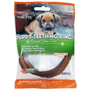 N-Bone Puppy Teething Ring Pumpkin