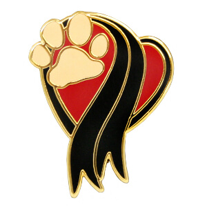 The Memorial Paw, Pin